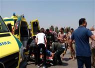 مصرع وإصابة 6 أشخاص في حادث تصادم بالطريق الدولي بالإسكندرية
