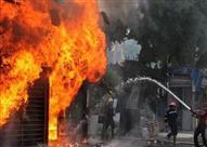 الدفع بـ10 سيارات إطفاء لإخماد حريق مصنع بـ 6 أكتوبر