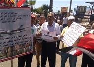 بالصور- وقفة لتأبين ضحايا الطائرة المنكوبة فى الإسكندرية