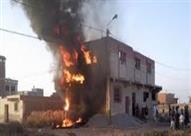 حريق هائل في 10 منازل دون خسائر فى الأرواح بأسيوط