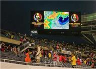 تأخر الشوط الثاني للقاء كولومبيا وتشيلي بسبب سوء الأحوال الجوية