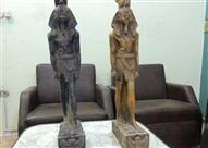 """ضبط تمثالين أثريين بحوزة مُشرف مبيعات بالقليوبية.. والمتهم: """"للزينة"""""""