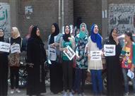 بالصور -تظاهر عشرات الطلاب بزفتى احتجاجا على تأجيل الامتحانات