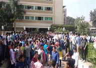 طلاب بالثانوية العامة يتظاهرون بالأقصر احتجاجا على الغاء امتحان