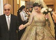 بالصور.. عميد الصحافة اللبنانية ميشيل تويني يحتفل بزفاف حفيدته بحفل