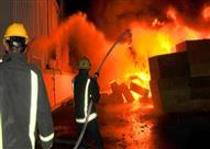 إخماد حريق بمصنع أثاث ببرج العرب بالإسكندرية