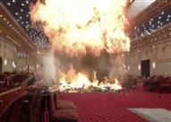 السيطرة علي حريق شب في قاعة أفراح بإسنا جنوب الأقصر
