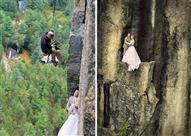 شاهد..صور زفاف لن تصدق كيف تم التقاطها!