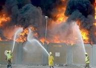 النيران تلتهم بعض محتويات مصنع للمنتجات الغذائية بالقليوبية