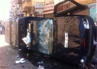 مصرع ضابط شرطة في حادث سير بالفيوم وإصابة 9 مواطنين بالسويس