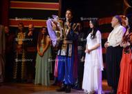 هبة مجدي ومحمد محسن يحتفلان بزفافها للمرة الثانية في المسرح القومي