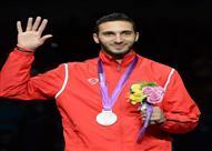 علاء الدين أبوالقاسم يحمل راية مصر في أولمبياد ريو دي جانيرو 2016