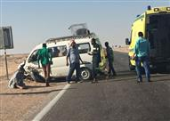 مصرع 11 شخصاً وإصابة 3 آخرين في حادث سير على طريق مطار سوهاج الدولي