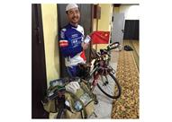 من الصين للسعودية.. قطع 4 آلاف كلم على دراجته للحج