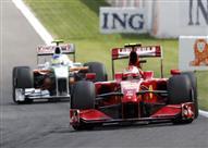 رايكونن يسجل الزمن الأسرع في التجربة الحرة الثالثة لسباق بلجيكا