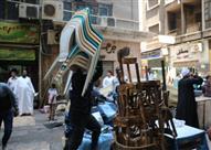 حملات مكبرة لرفع الإشغالات بحي النزهة وإعادة الانضباط لشوارع القاهرة