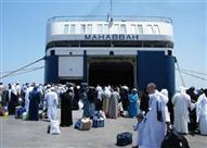 4540 من عمال خدمات الحجاج يغادرون ميناءي سفاجا والغردقة