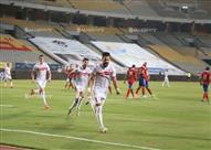 فرحة لاعبي الزمالك وباسم مرسي بالهدفين في مرمى الأهلي
