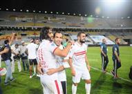 احتفال لاعبي الزمالك بعد التتويج بالكأس بثلاثية أمام الأهلي