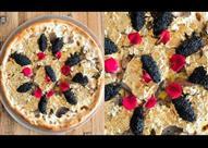 بالفيديو - أغلى بيتزا.. العجينة سوداء والمكونات شرائح الذهب
