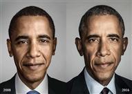 """ماذا فعلت سنوات """"البيت الأبيض"""" بـ """"أوباما""""؟ (صور)"""