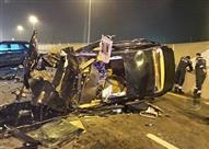 مصرع مجند وإصابة ضابط في حادث تصادم بطريق الإسماعيلية الصحراوي