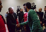 وزير الرياضة يجتمع مع فراعنة كرة اليد قبل السفر لمونديال فرنسا