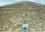 """حملة """"Tour n cour"""" تنشر صورًا جديدة لميسي أمام الأهرامات"""