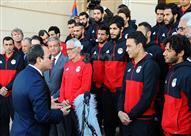 إستقبال الرئيس عبد الفتاح السيسي لبعثة منتخب مصر