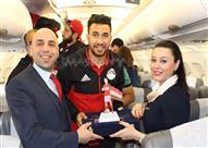 تكريم شركة الطيران لمنتخب مصر