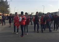 توافد جماهير الأهلي على استاد السلام قبل مباراة بيدفيست