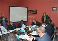 اجتماع مجلس إدارة اتحاد الكرة وتكريم الحكم السويسري بوسكا