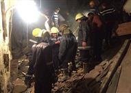 اللقطات الأولى لحادث انهيار 3عقارات في بولاق أبو العلا