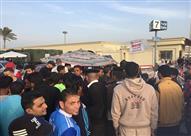 توافد الجماهير لاستاد برج العرب لمتابعة مباراة مصر وتوجو
