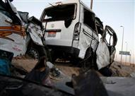 إصابة 3 أشخاص إصر تصادم سيارتين بطريق الفيوم الصحراوي