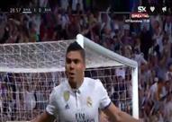 كاسميرو يسجل هدف التقدم لريال مدريد