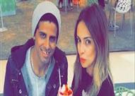 بالصور- إسراء عبدالفتاح وحمدي الميرغني يرتديان دبل الخطوبة بشكل رسمي