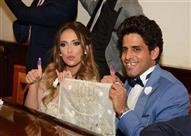 بالصور.. أشرف عبد الباقي ونجوم مسرح مصر يحضرون عقد قران حمدي الميرغني