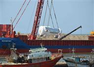 وصول سفينة كرواتية محملة بـ3 محولات لمحطة كهرباء البرلس