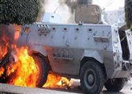 استشهاد مجند وإصابة آخر نتيجة انفجار مُدرعة شرطة بالعريش
