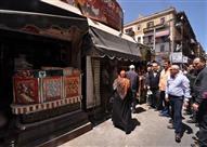 بالصور.. محافظ بور سعيد: العناية الإلهية أنقذت سوق البازار من كارثة