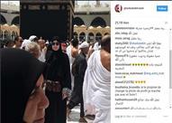 """غادة عبدالرازق في """"العمرة"""".. وجمهورها: """"الشيخة غادة المغربية"""" - (فيديو)"""