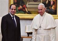 السيسي يودع بابا الفاتيكان بمطار القاهرة بعد زيارة للقاهرة استمرت