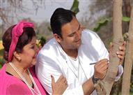 """بالصور- أكرم حسني ورجاء الجداوي يعيشان قصة حب في """"ريّح المدام"""""""