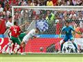 جانب من مباراة البرتغال والمغرب