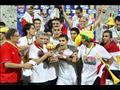احتفال منتخب مصر بأمم إفريقيا