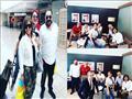 بالصور| روجينا وأشرف زكي ومصطفى شعبان يصلون عمان لحضور فعاليات جرش