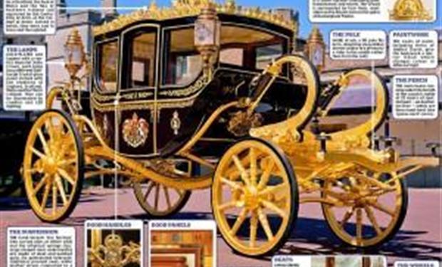 صور: العربة الملكية الجديدة لملكة بريطانيا