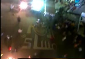 لحظة إطلاق أمين شرطة النيران على الأهالي بالإسكندرية