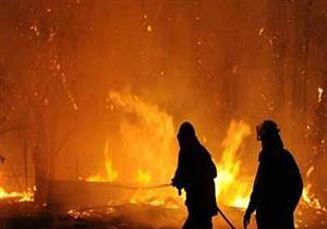 """""""المطافئ"""" تنقذ المنقطة الصناعية بأكتوبر من كارثة بعد نشوب حريق بجوار محطة وقود"""